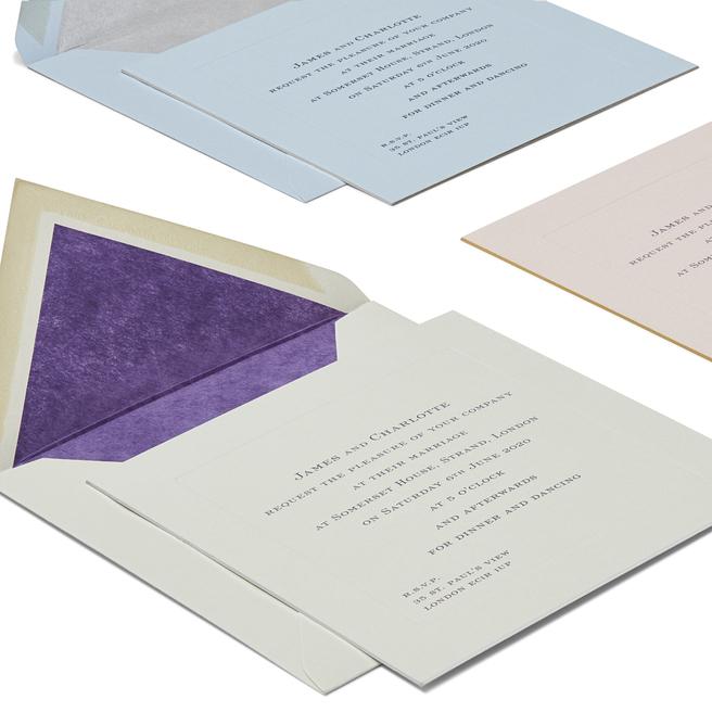 Square Wedding Invitation with Platemark