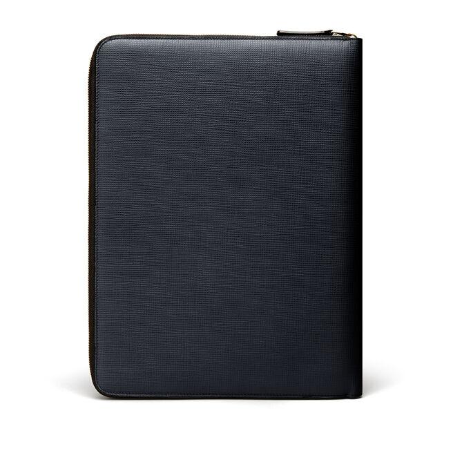 Large Zip Folio in Crossgrain Leather