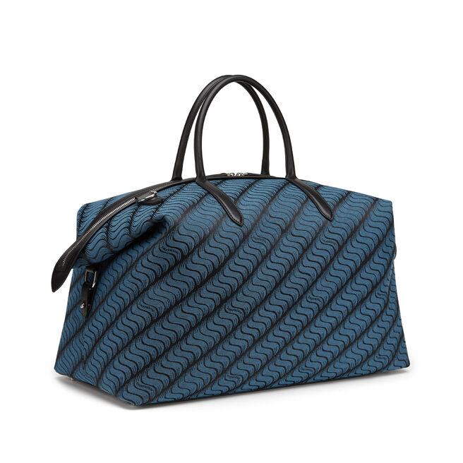 'S' Monogram Zip Guard Travel Bag