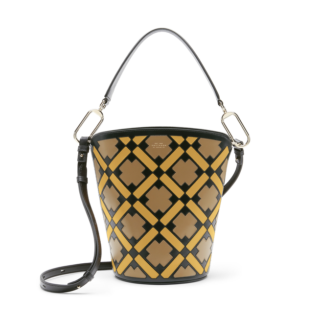 Intarsia Madison Equestrian Bucket Bag
