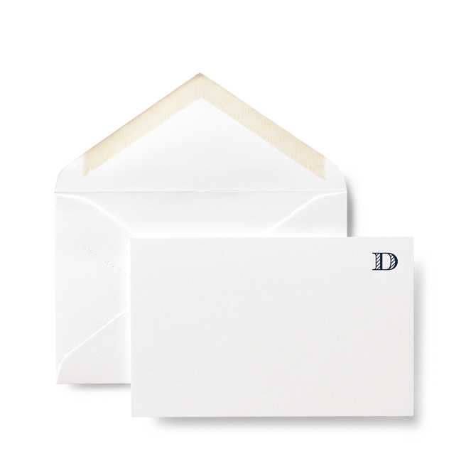 D Alphabet Cards White