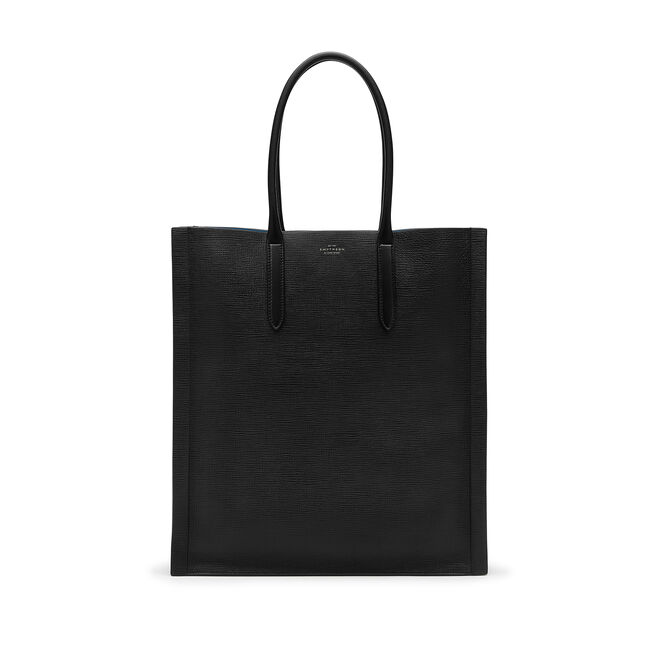 Medium Paper Edge Tote in Crossgrain Leather