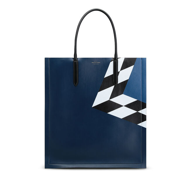 Maxi Paper Edge Tote in Smooth Leather