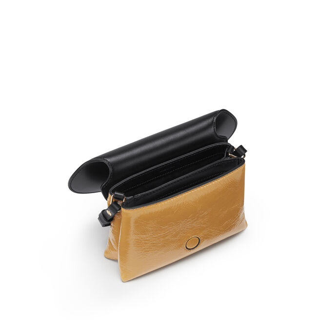 Mini Pillow Crossbody Bag in Crinkled Patent Leather
