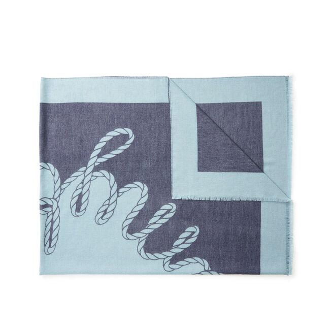 Swirl Logo Cashmere Blanket Scarf