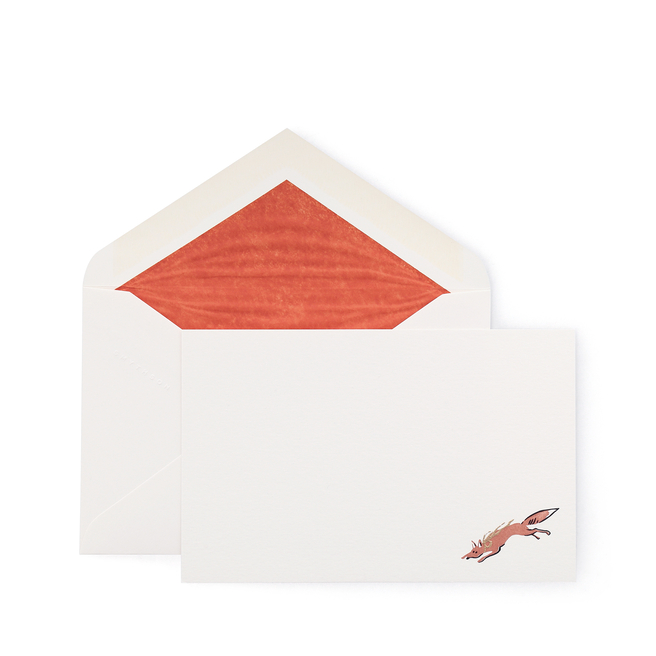 Scarf Print Fox Correspondence Cards