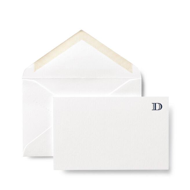 D Alphabet Cards White