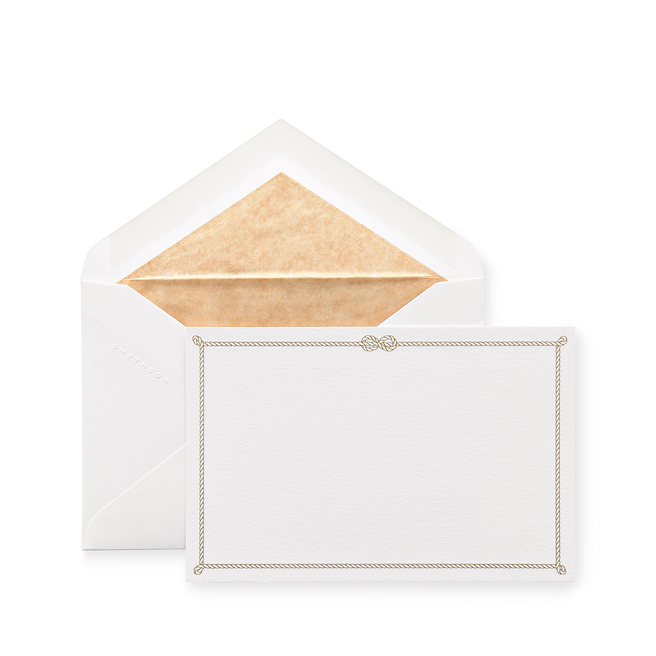 Rope Bordered Correspondence Cards