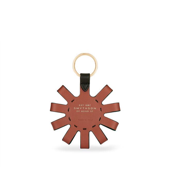 Loop Circle Keyring in Smooth Leather