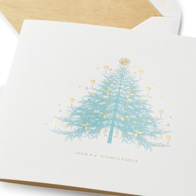 Christmas Fir Tree Cards White