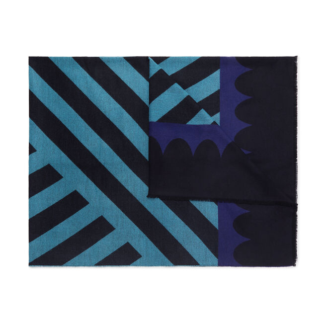 Geo Print Cashmere Blanket Scarf