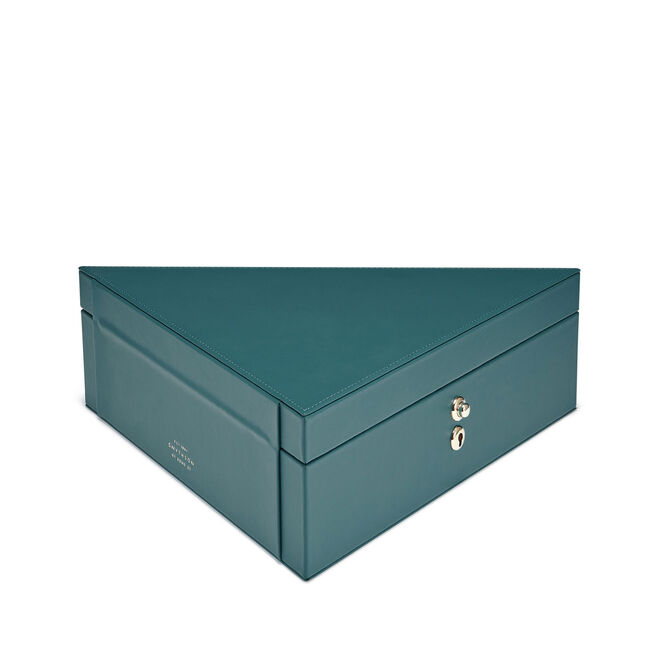 Triangle Box in Smooth Leather
