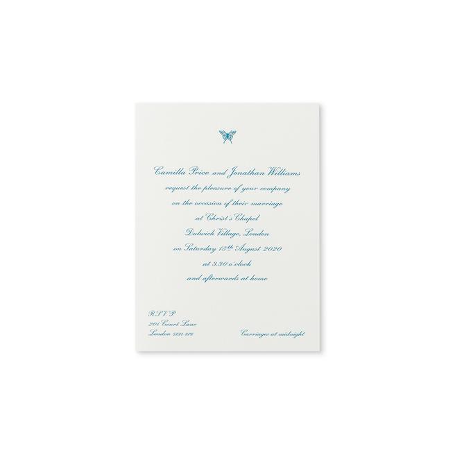 Portrait Folded Wedding Invitation