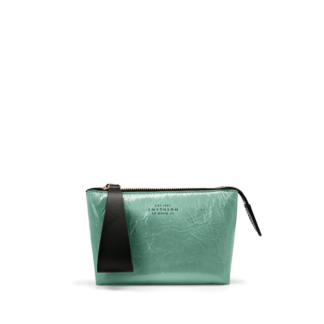 Mini Pillow Pouch in Crinkled Patent Leather
