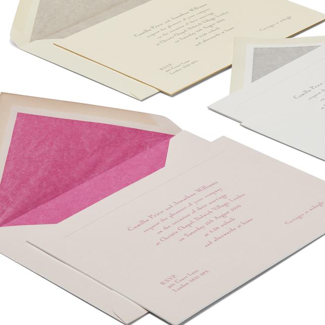 Landscape Wedding Invitation with Platemark