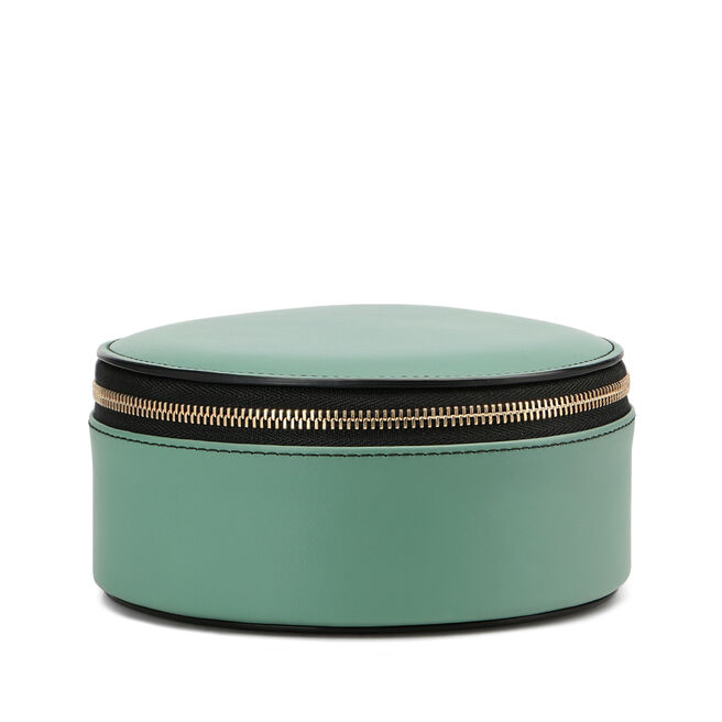 Round Trinket Case in Smooth Leather