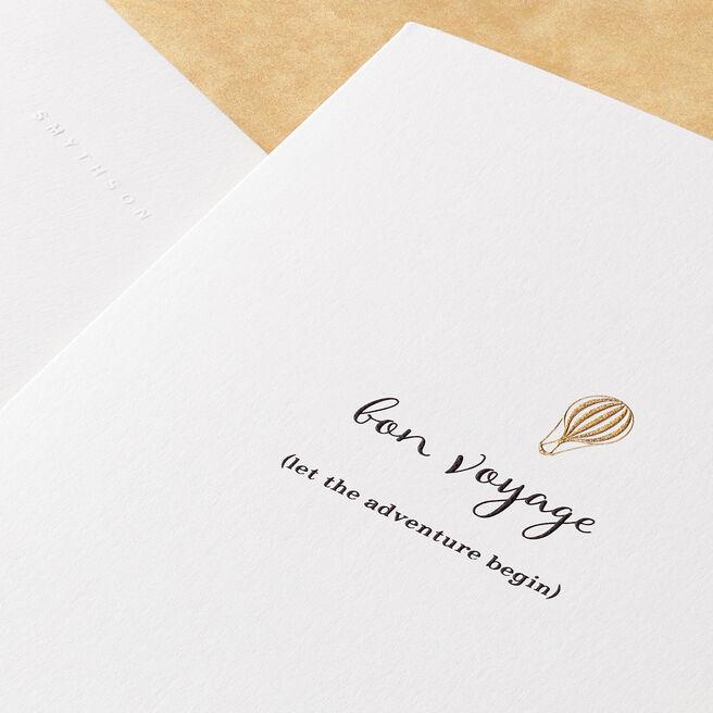 Bon Voyage Card White