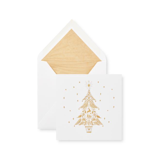 Golden Tree Christmas Card