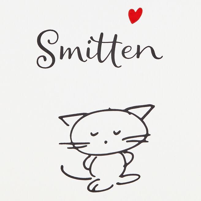 Smitten Kitten Card White