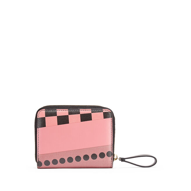 Small Zip Around Purse in Smooth Leather