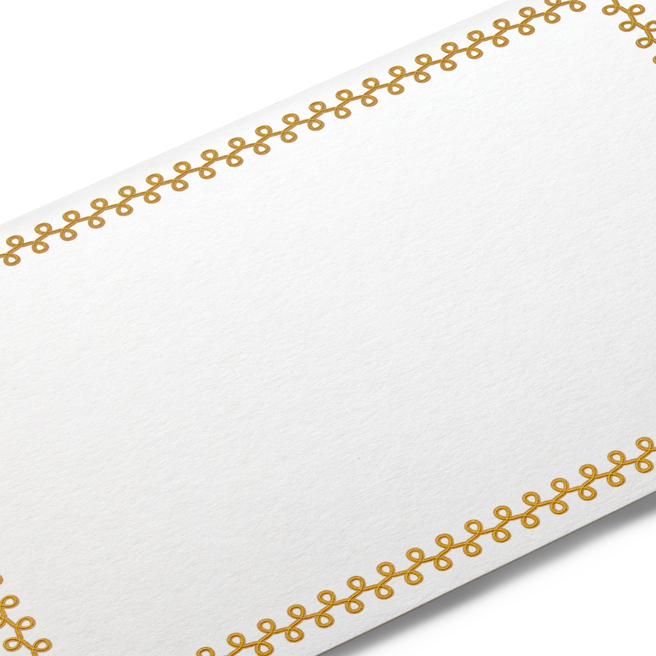 Boucles Border Correspondence Cards