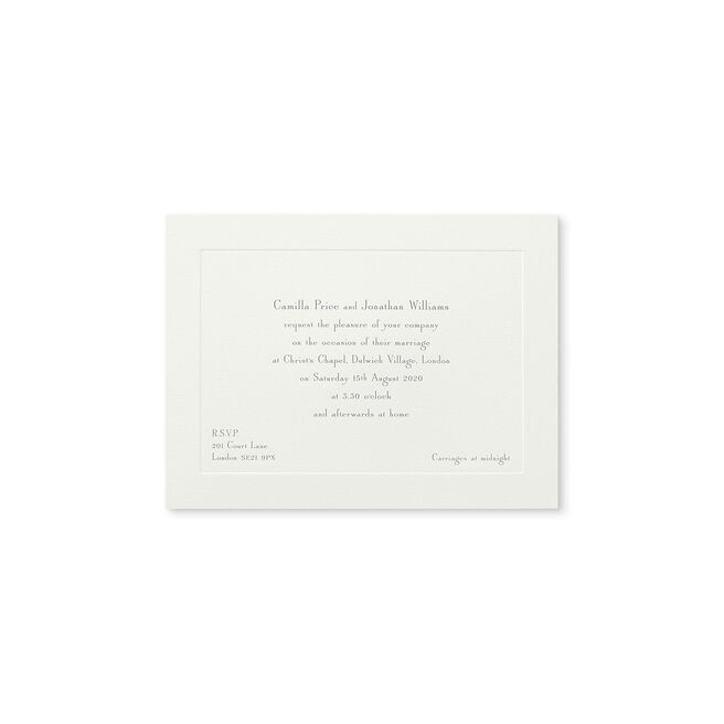 Landscape Wedding Invitation with Platemark