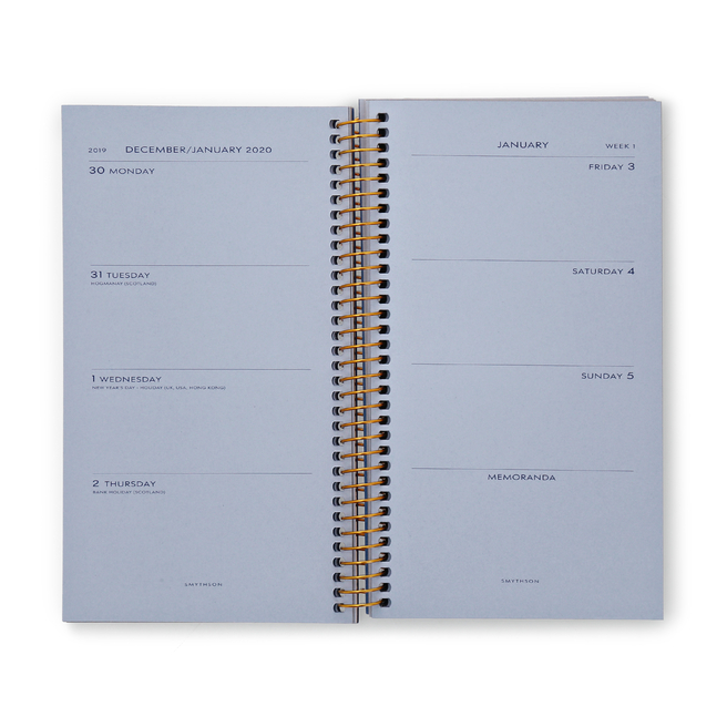 2020 Bond Spiral Bound Refill, Week-to-View