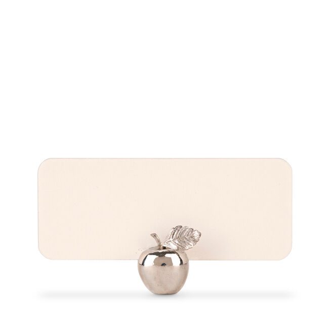 Apple Place Card Holders Silver
