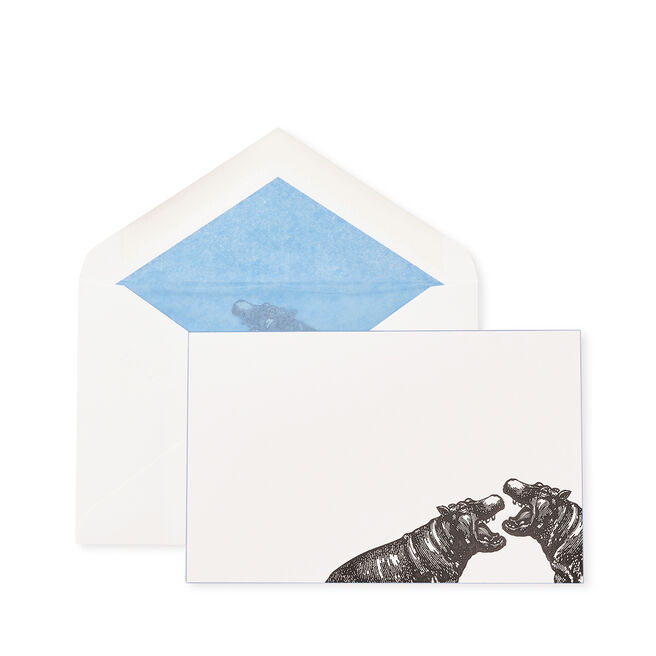 Animal Hippo Correspondence Cards