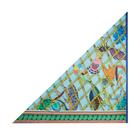 Bird Print Silk Triangle Scarf