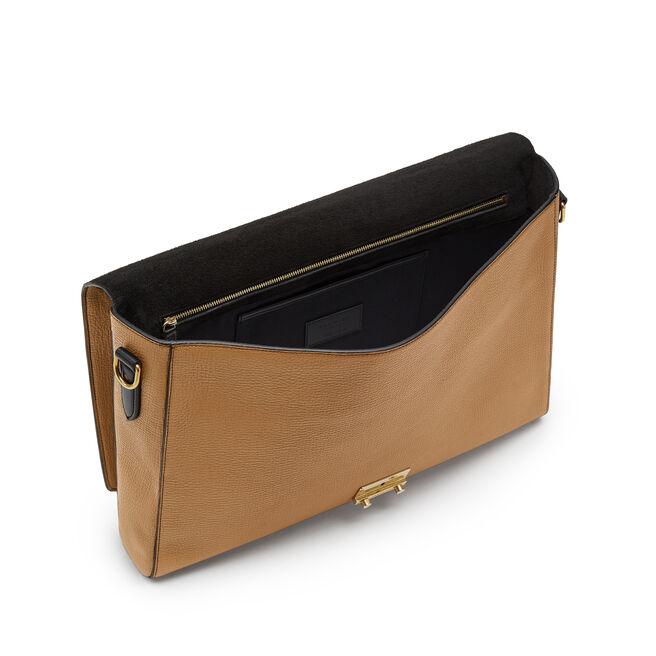 Bond Lock Briefcase in Large Grain Leather