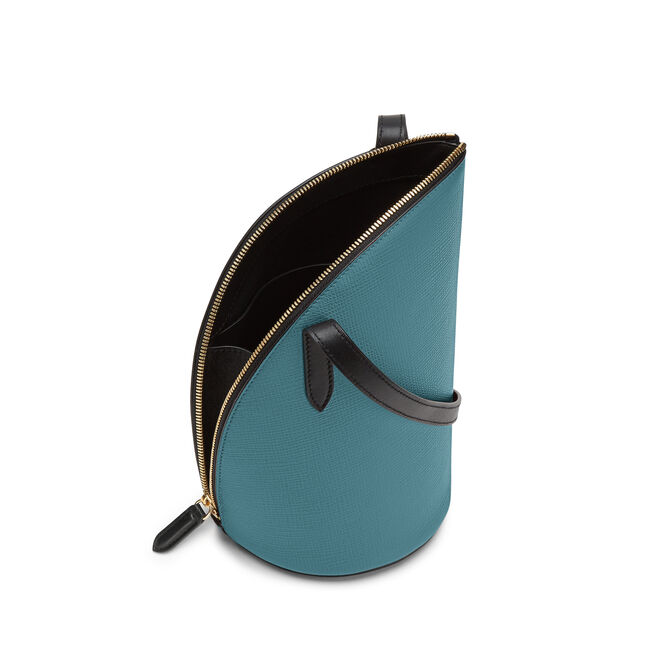1/4 Moon Crossbody Bag in Crossgrain Leather