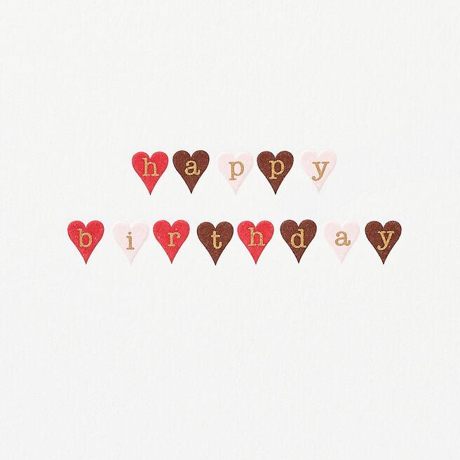 Little Hearts Birthday Card