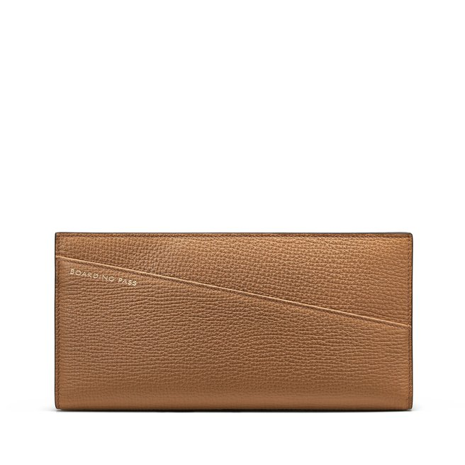 Slim Travel Wallet in Large Grain Leather