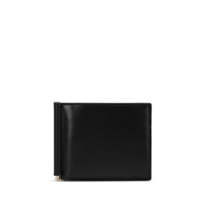 Money Clip Wallet in Box Calf Leather