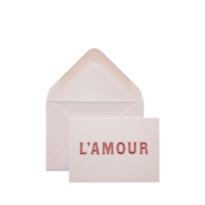 L'Amour Small Valentine's Card