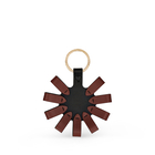 Loop Circle Keyring in Smooth Leather