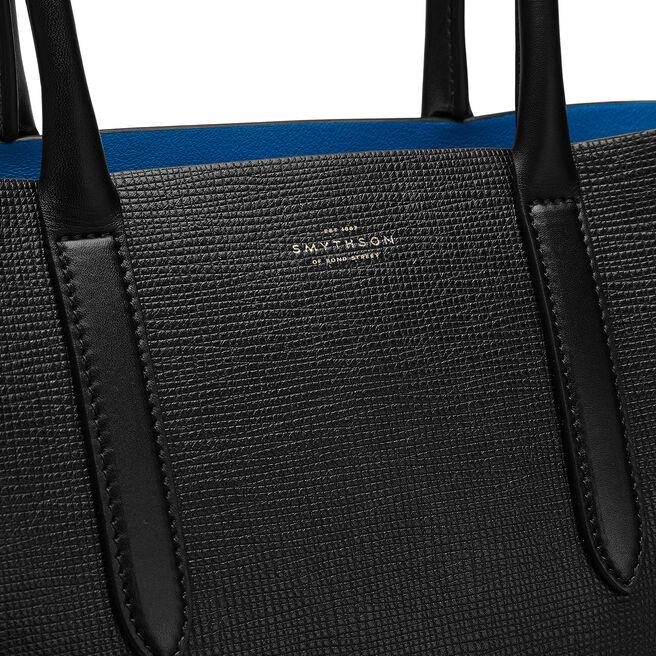 Medium Paper Edge Tote in Crossgrain Leather