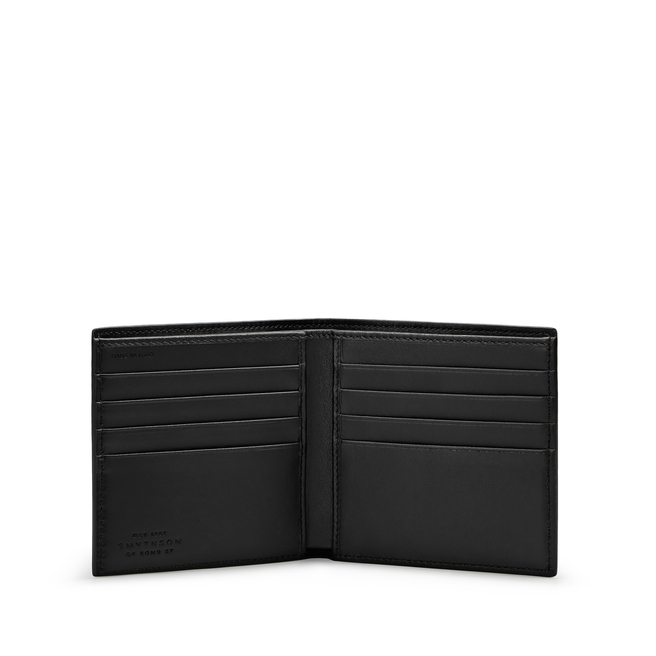 8 Card Wallet in Large Grain Leather