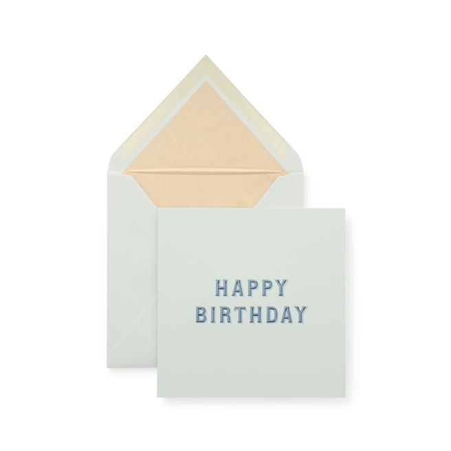 Carte d'anniversaire «Typography»