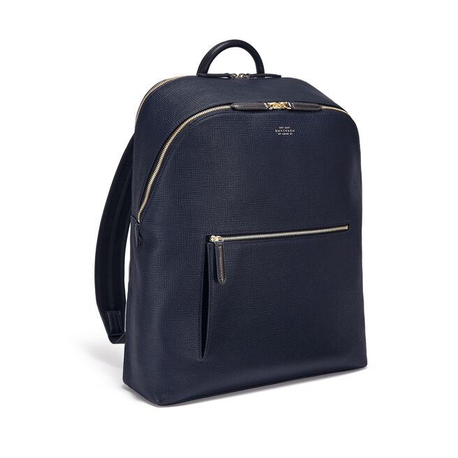 Panama Double Zip Backpack in Crossgrain Leather