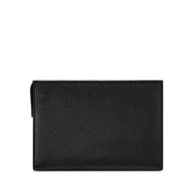Large Zip Washbag in Large Grain Leather
