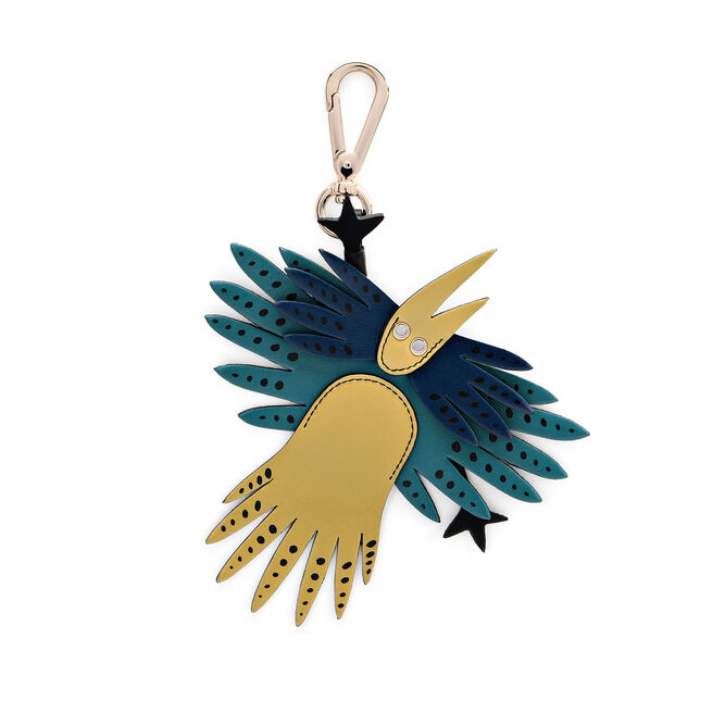 Bird Charm in Smooth Leather