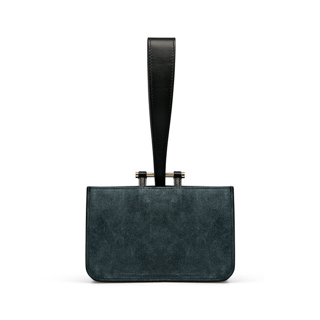 Mini Concertina Wristlet in Suede