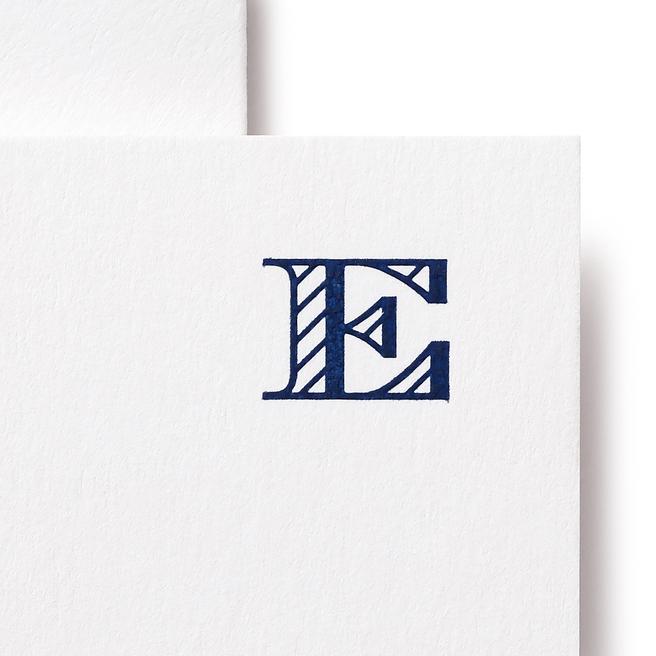 E Alphabet Cards White