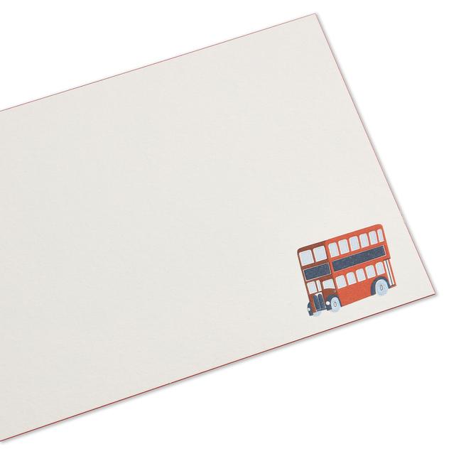 Biglietti di corrispondenza con autobus britannico