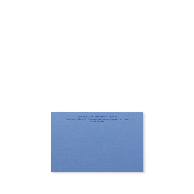 Imperial Correspondence Card with Name and Address (Top)