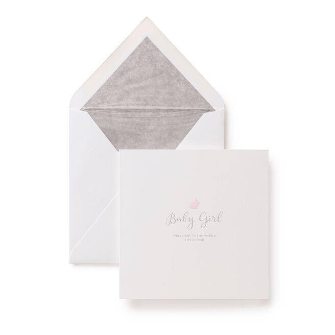 Baby Girl Rabbit Card