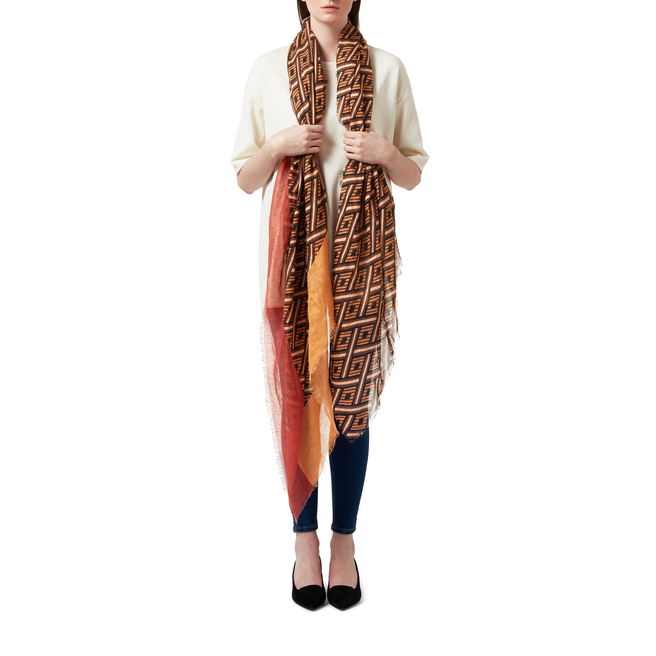 Diamond Stripe Linen Scarf
