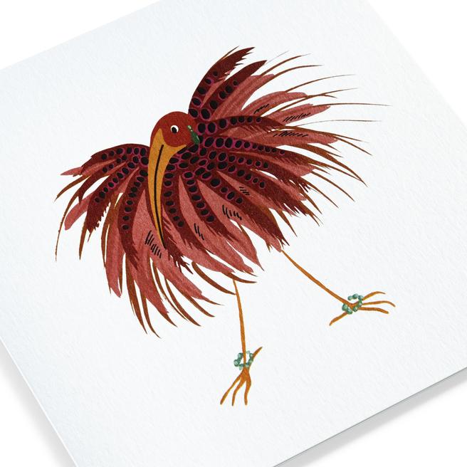 Fluffy Bird Card